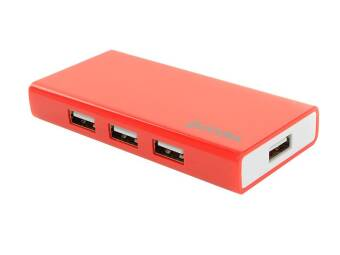 ACCURA HUB Aktiv 7-Port, USB 2.0 , Rot.
